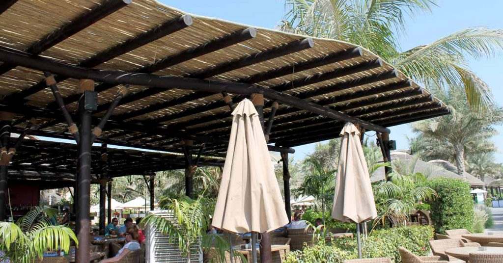 Outdoor restaurant at Sofitel The Palm Hotel