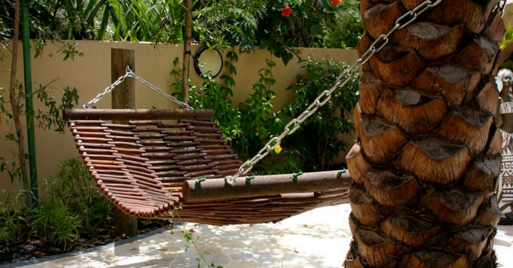 Glam up your garden with a timber hammock