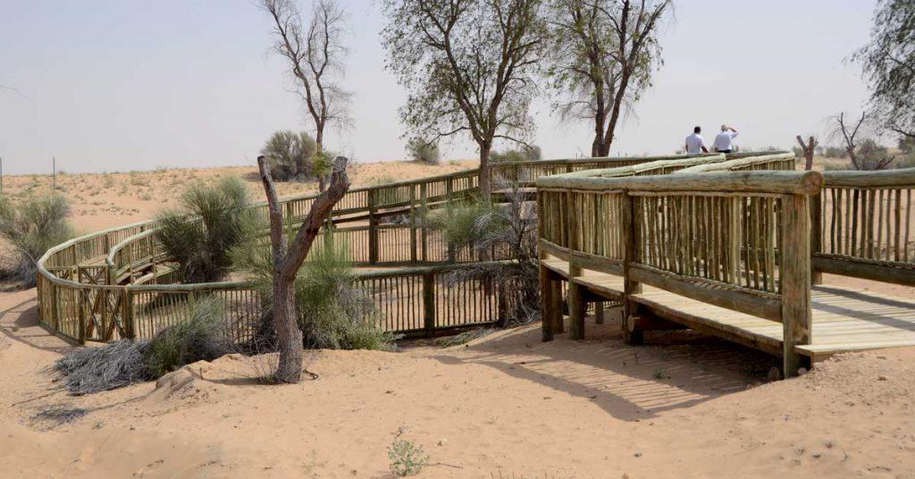Timber lath walkway railing