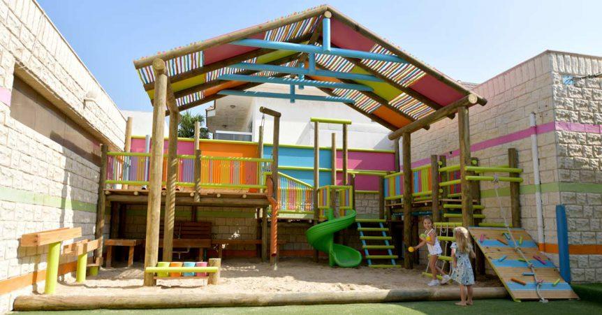 Custom built outdoor kids play area