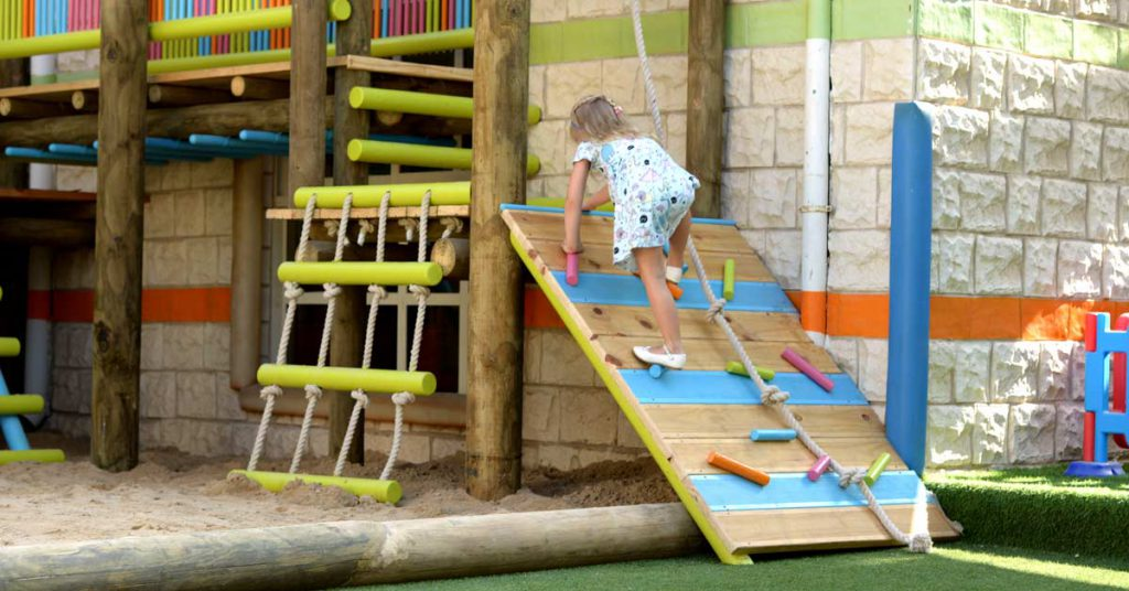 Fun and colourful outdoor play-area for kids at Kid's Spot Nursery.