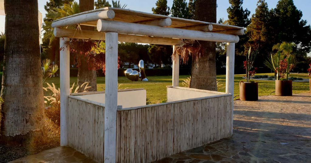 Boho Club Marbella custom built timber DJ booth