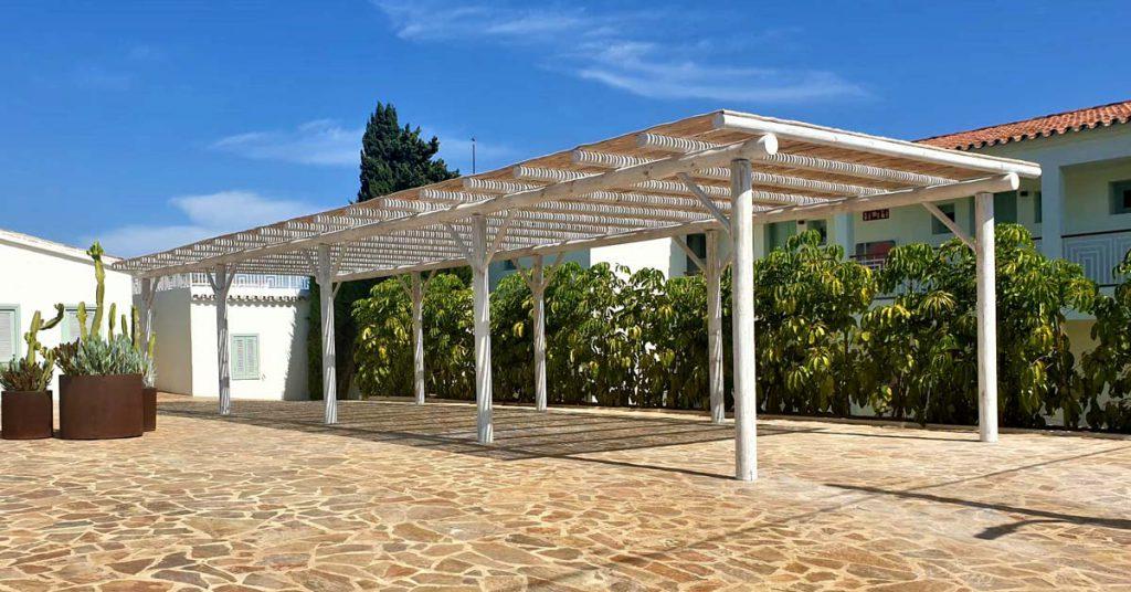Boho Club Marbella outdoor yoga and exercise area