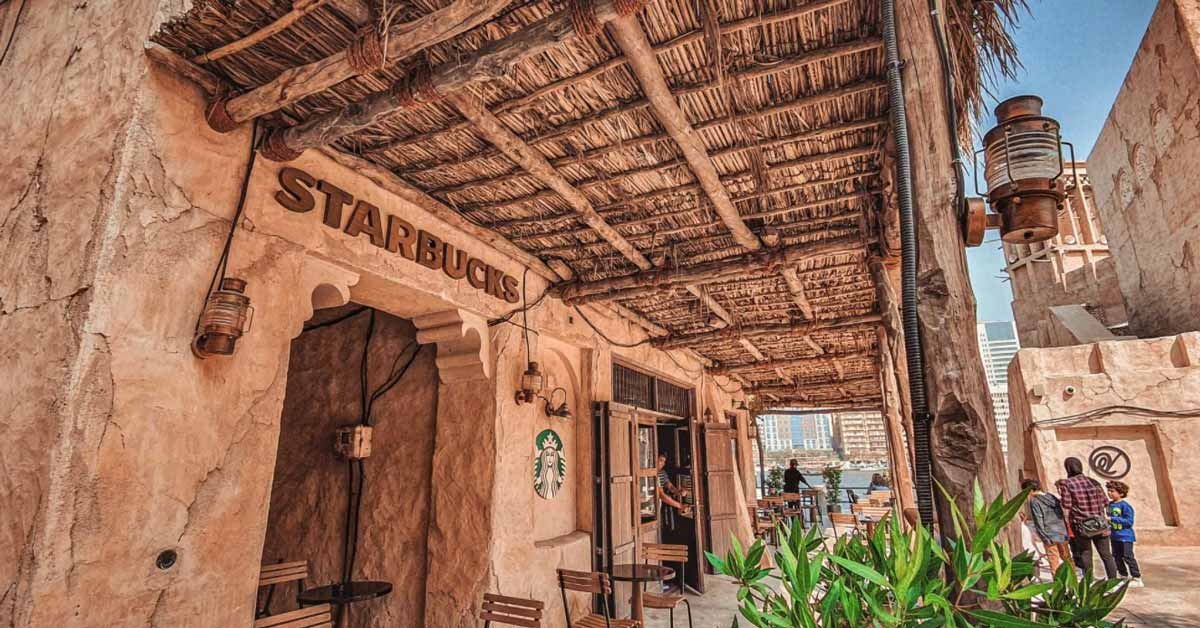 The beautiful setting of Starbucks, Al Seef