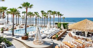Cape Reed Nikki Beach synthetic thatch bar