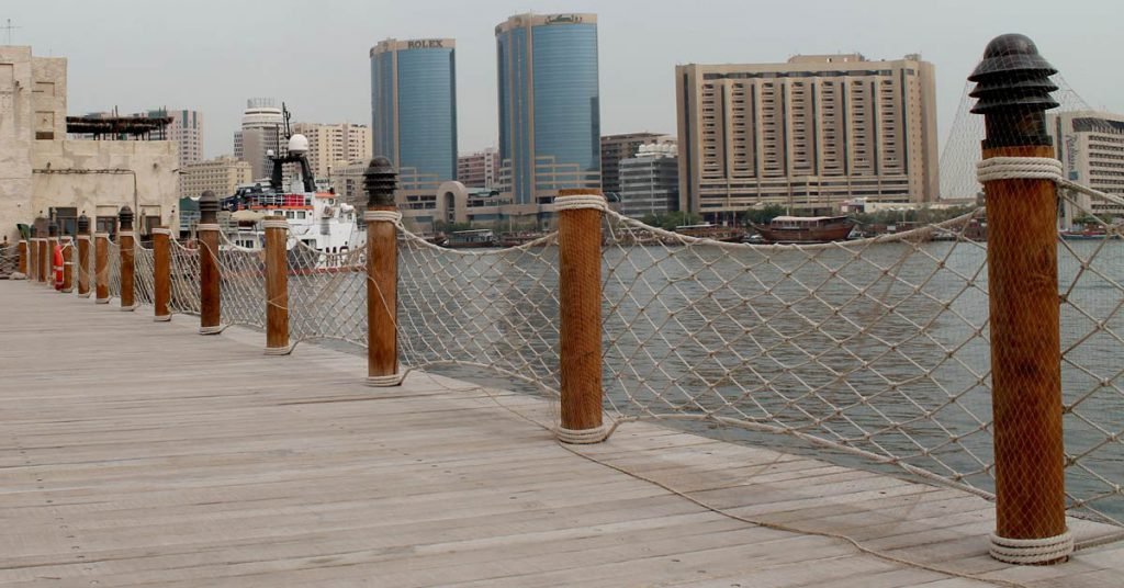 Cape Reed timber construction balustrades with netting and decking