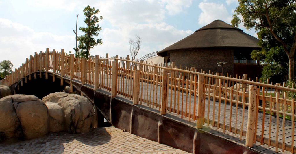 Cape Reed timber construction timber balustrades with decked bridge
