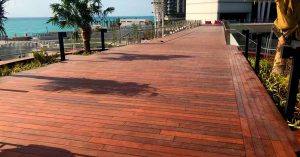 Cape Reed timber decking walkway