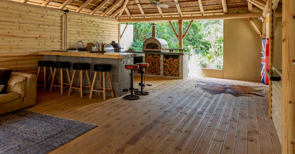 Cape Reed timber decking with cladding