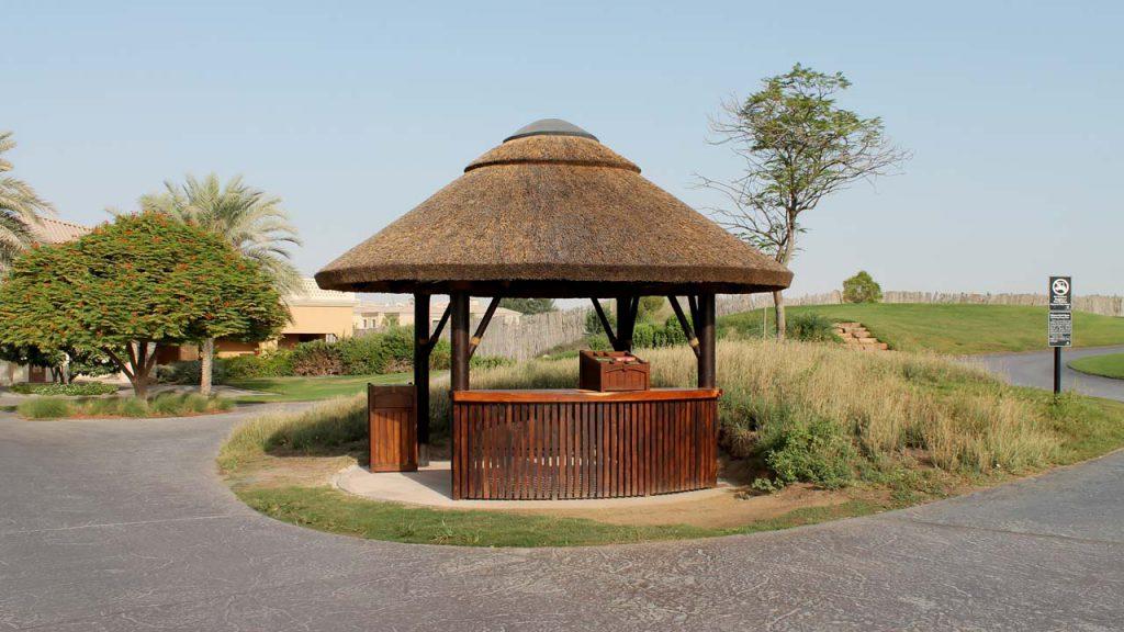 Jumeirah Golf Estates thatched starter hut