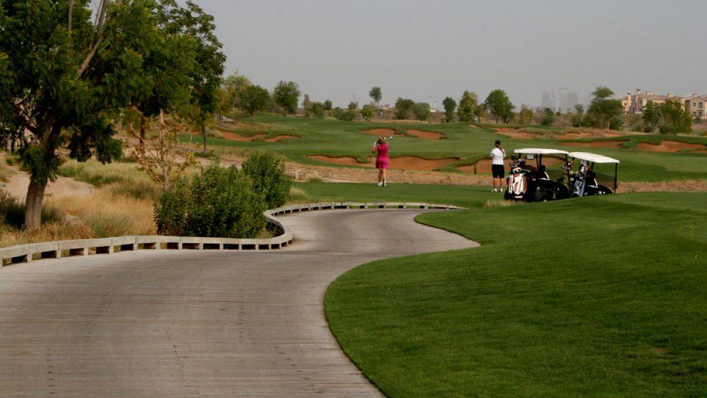 Jumeirah Golf Estates timber decked driveways
