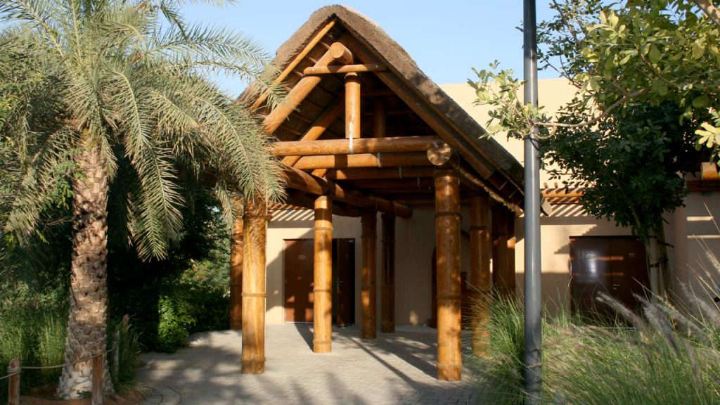 Al Ain Zoo thatched shading structure
