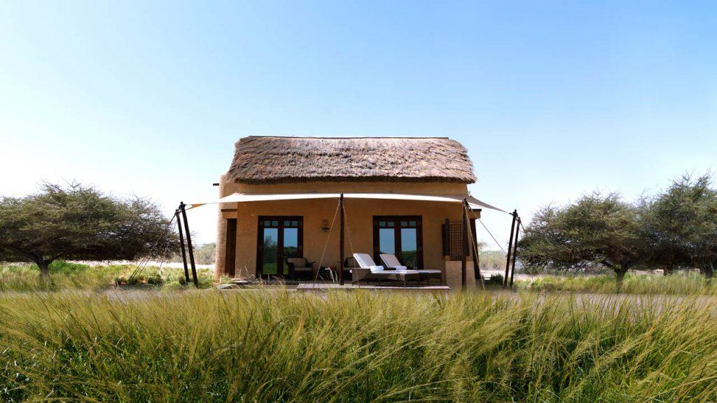 Anantara Sir Bani Yas Island Resort thatched chalet