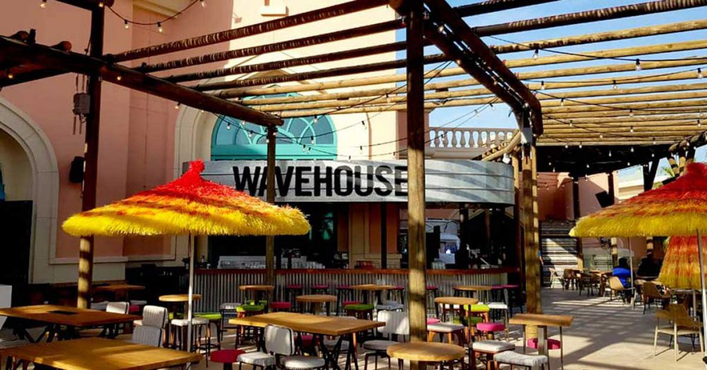 Wavehouse timber pergolas over the decked terrace