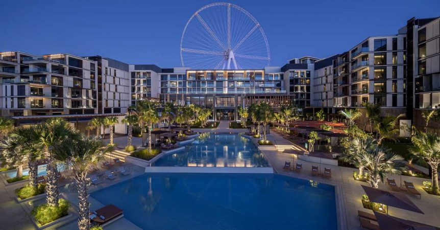 Bluewaters poolside timber decking and restaurants