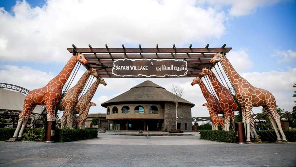 Dubai Safari entrance to Safari Village