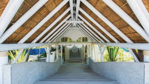 El Oceano Beach Hotel Restaurant Whitewashed Thatched Roof