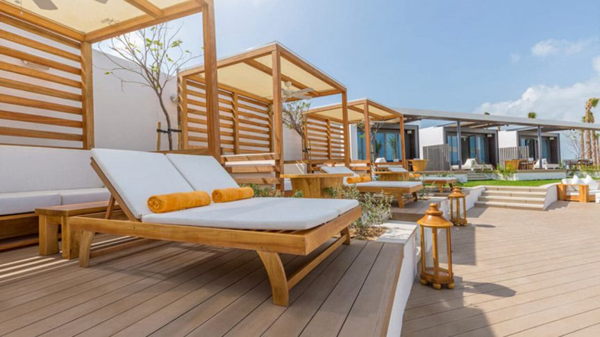 Commercial project Nikki Bach Dubai timer poolside daybeds