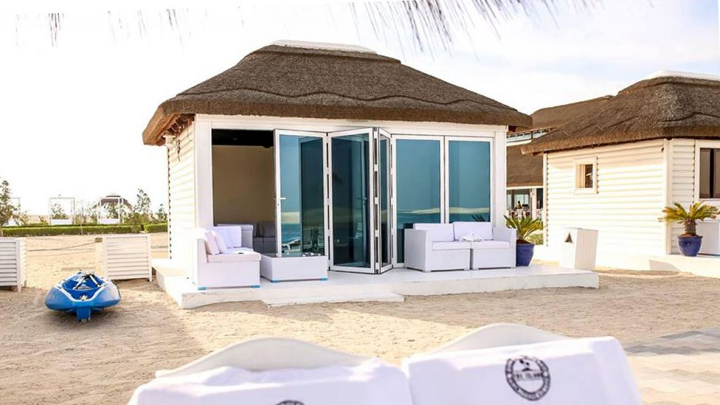 Beach Club thatched timber cladded cabanas