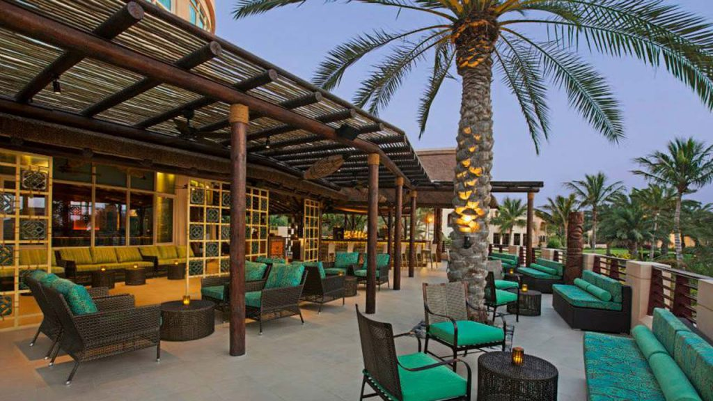 Trader Vics Ras Al Khaimah semi-shaded timber pergolas