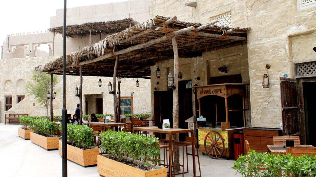 Al Seef Restaurant barasti shade pergola
