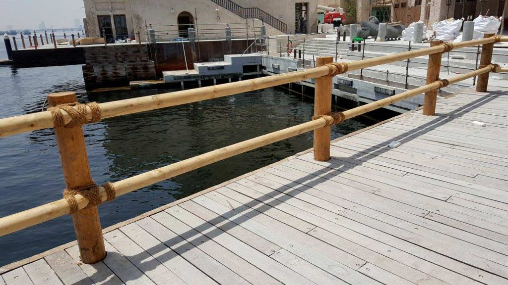 Al Seef timber decking with balustrades