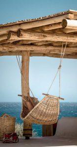 Rustic Timber Pergola with Hammock