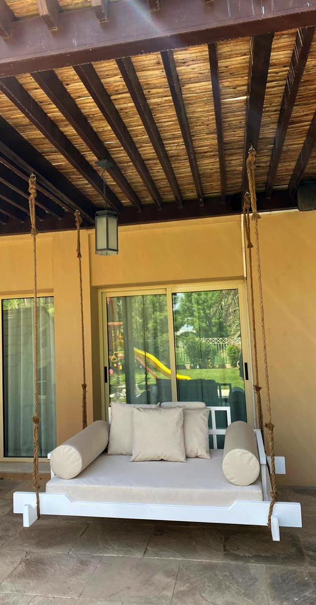 Timber Pergola with Swing Bed