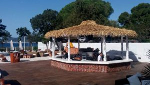 Cape Reed synthetic thatch at Nikki Beach Marbella