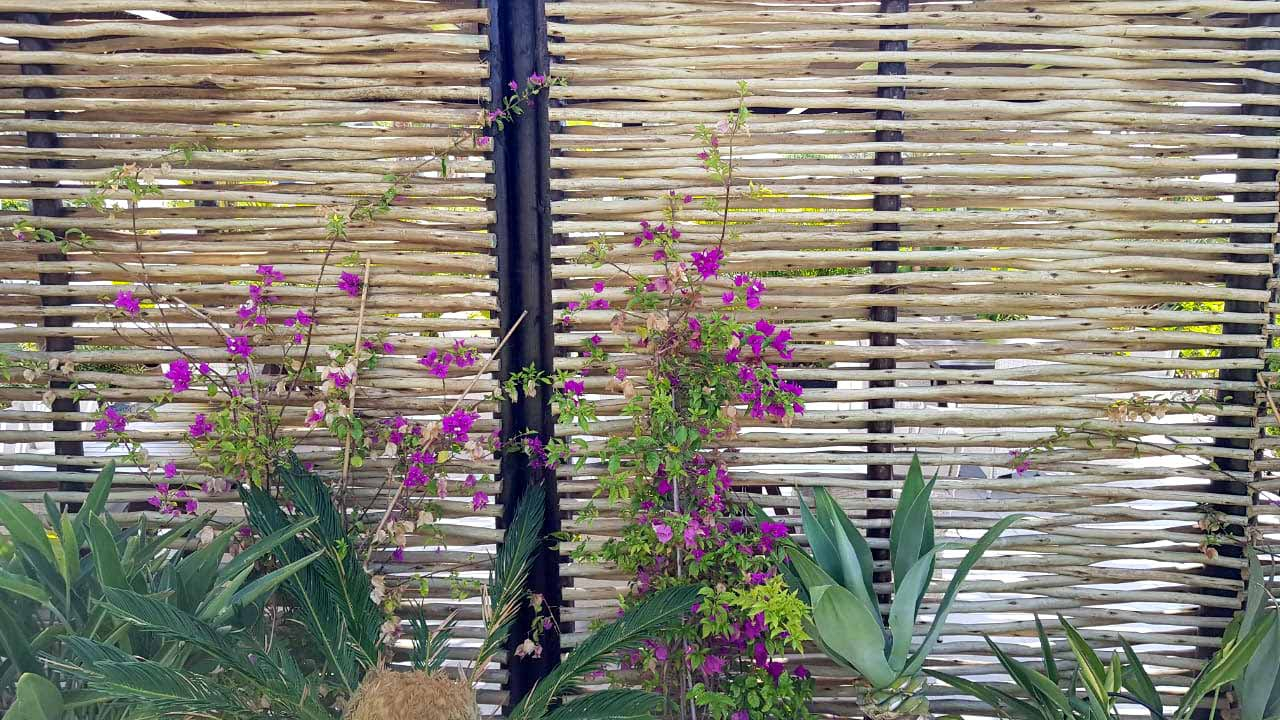 Timber products rustic lath screen