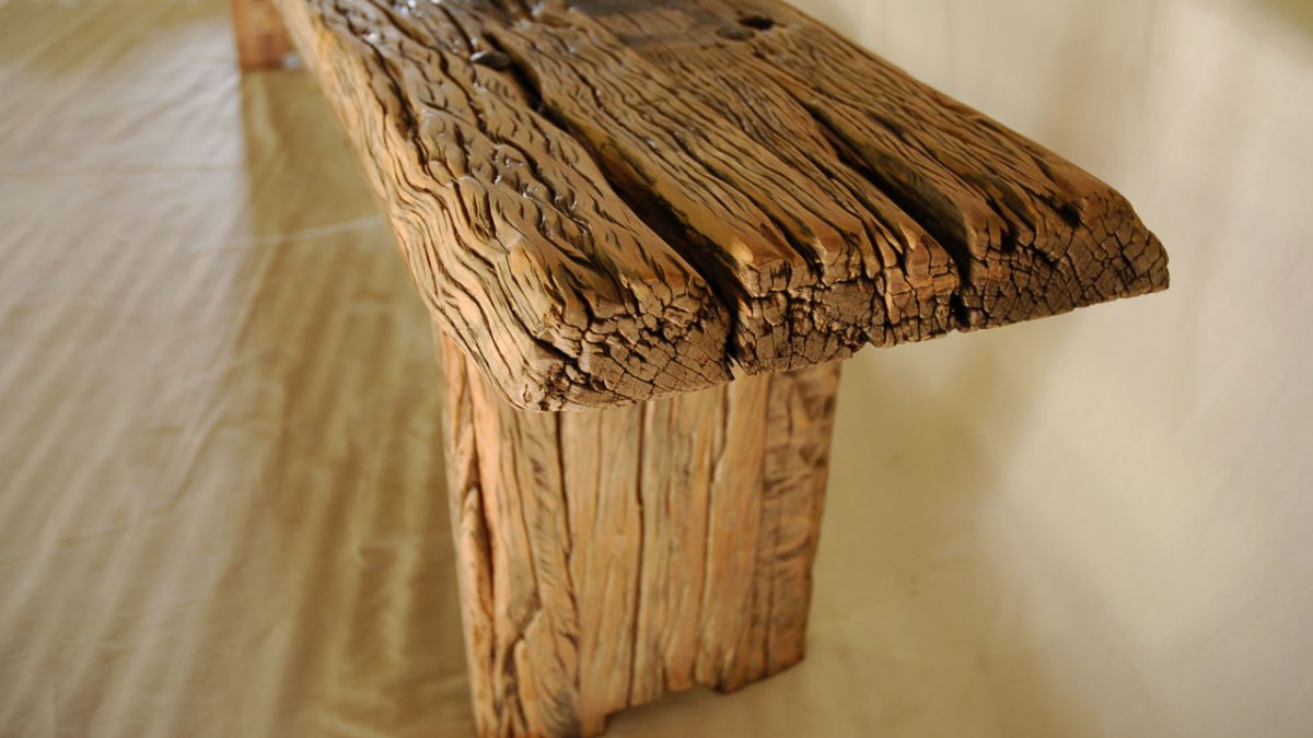 Sleeper wood bench
