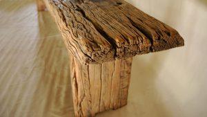 Sleeper wood bench