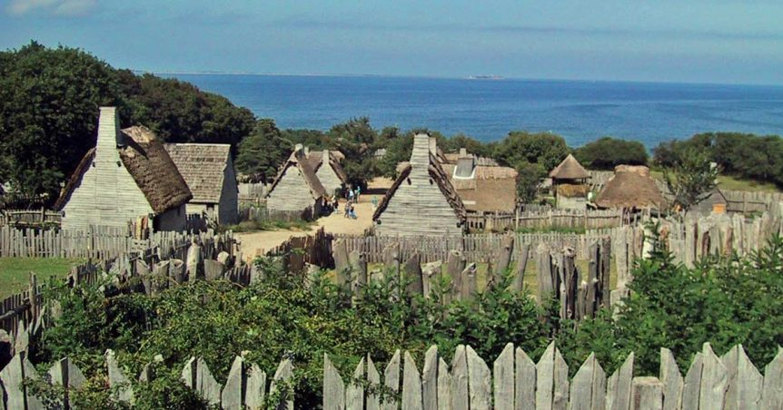 Timber and thatch structures in Northern America